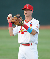 Infielder Matt Williams (11) of the Johnson City Cardinals, Appalachian League affiliate of the St. Louis Cardinals, prior to a game against the Danville Braves on August 19, 2011, at Howard Johnson Field in Johnson City, Tennessee. Danville defeated Johnson City, 5-4, in 16 innings. (Tom Priddy/Four Seam Images)