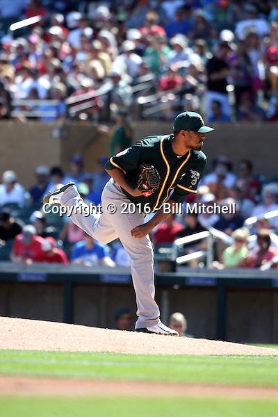Felix Doubront - Oakland Athletics 2016 spring training (Bill Mitchell)