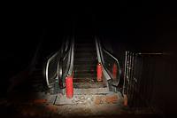 CHINA. Beijing. An escalator under construction. 2008