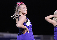 Rogers Mountaineers Cheerleaders perform during the half of the game against the Springdale Bulldogs Friday, October 16, 2020, at Whitey Smith Stadium, Rogers, Arkansas (Special to NWA Democrat-Gazette/Brent Soule)