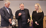 David Thompson, Hal Prince and Susan Stroman attends the Meet & Greet for the Manhattan Theatre Club's Broadway Premiere of 'Prince of Broadway' at the MTC Studios on July 20, 2017 in New York City.