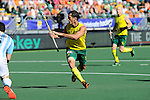 The Hague, Netherlands, June 13: Jamie Dwyer #1 of Australia reacts to a play during the field hockey semi-final match (Men) between Australia and Argentina on June 13, 2014 during the World Cup 2014 at Kyocera Stadium in The Hague, Netherlands. Final score 5-1 (3-0)  (Photo by Dirk Markgraf / www.265-images.com) *** Local caption ***