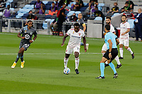 ST PAUL, MN - SEPTEMBER 06: Nedum Onuoha #14 of Real Salt Lake defends during a game between Real Salt Lake and Minnesota United FC at Allianz Field on September 06, 2020 in St Paul, Minnesota.