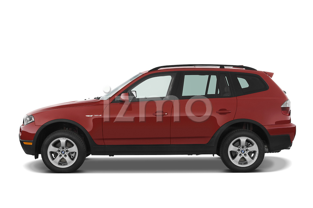 Driver side profile view of a 2008 BMW X3.