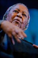 Tuesday 27 May 2014, Hay on Wye, UK<br /> Pictured: Toni Morrison <br /> Re: The Hay Festival, Hay on Wye, Powys, Wales UK.