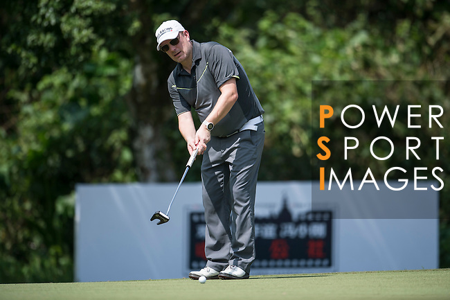 Markus Manninen during the World Celebrity Pro-Am 2016 Mission Hills China Golf Tournament on 22 October 2016, in Haikou, China. Photo by Marcio Machado / Power Sport Images