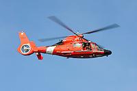 Coast Guard HH-65 Dolphin in flight.