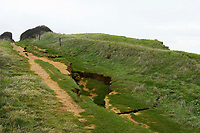 Chunk of Britain's Jurassic Coast is on the brink of collapse after an enormous crack appears.