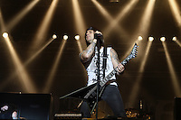 """18. With Full Force .Das With Full Force (kurz WFF) ist ein Musikfestival für Metal, Hardcore und Punk. Jährlich findet es am ersten Juliwochenende auf dem Segelflugplatz Roitzschjora bei Löbnitz statt. 2010 waren es  um die  30.000 Besucher. Impressionen des ersten Festivaltags mit zum Beispiel Bring Me The Horizon, Agnostic Front, Bullet for My Valentine und Millencolin. .Im Bild: Die walisische Metal-Band """"Bullet For My Valentine"""" mit  Frontsänger Matthew Tuck.Foto: Karoline Maria Keybe"""