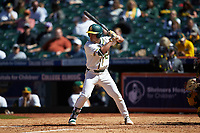 Esteban Cardoza-Oquendo (52) of the Baylor Bears at bat against the Missouri Tigers in game one of the 2020 Shriners Hospitals for Children College Classic at Minute Maid Park on February 28, 2020 in Houston, Texas. The Bears defeated the Tigers 4-2. (Brian Westerholt/Four Seam Images)