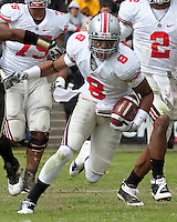 Ohio State wide receiver DeVier Posey. The Purdue Boilermakers defeated the Ohio State Buckeyes 26-18 at Ross-Ade Stadium, West Lafayette, Indiana on October 17, 2009..