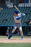 Midland RockHounds Greg Deichmann (18) bats during a Texas League game against the Frisco RoughRiders on May 21, 2019 at Dr Pepper Ballpark in Frisco, Texas.  (Mike Augustin/Four Seam Images)