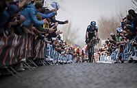 Dylan van Baarle (NED/SKY) up the Oude Kwaremont<br /> <br /> 103rd Ronde van Vlaanderen 2019<br /> One day race from Antwerp to Oudenaarde (BEL/270km)<br /> <br /> ©kramon