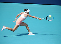 MIAMI GARDENS, FLORIDA - MARCH 26: Ajla Tomljanovic on Day 5 of the 2021 Miami Open on March 26, 2021 in Miami Gardens, Florida<br /> <br /> <br /> People:  Ajla Tomljanovic