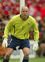 Goalkeeper Brad Friedel. The USA tied South Korea, 1-1, during the FIFA World Cup 2002 in Daegu, Korea.