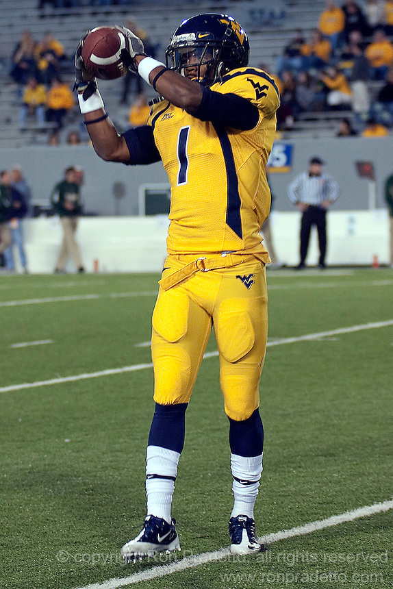 WVU wide receiver Tavon Austin. The West Virginia Mountaineers defeated the South Florida Bulls 20-6 on October 14, 2010 at Mountaineer Field, Morgantown, West Virginia.