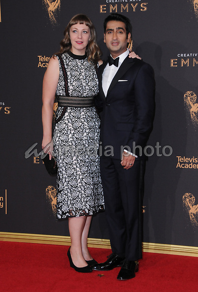 10 September  2017 - Los Angeles, California - Kumail Nanjiani. 2017 Creative Arts Emmys - Arrivals held at Microsoft Theatre L.A. Live in Los Angeles. Photo Credit: Birdie Thompson/AdMedia