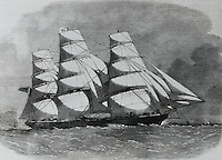 Clipper Ship Launched In Liverpool, August 11, 1882 Artist Unknown
