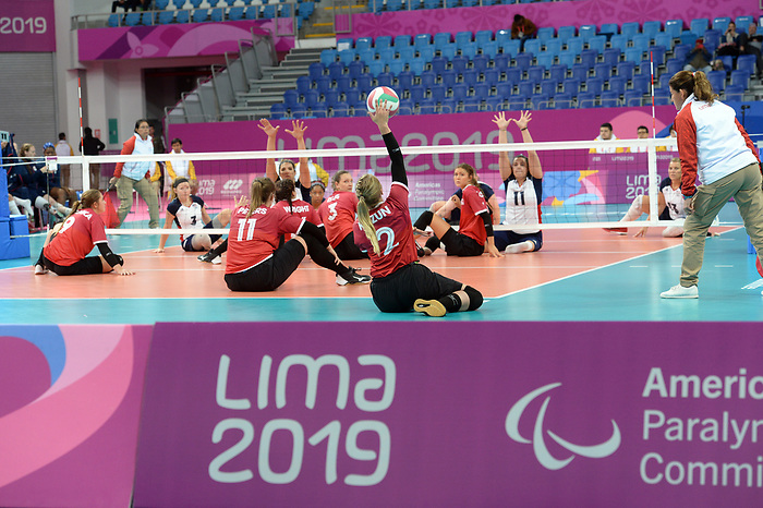 Julie Kozun, Lima 2019 - Sitting Volleyball // Volleyball assis.<br /> Canada competes in women's Sitting Volleyball // Canada participe au volleyball assis féminin. 26/08/2019.