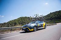 Castellon, SPAIN - SEPTEMBER 7: DIrect Energie during LA Vuelta 2016 on September 7, 2016 in Castellon, Spain