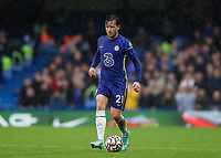 2nd October 2021; Stamford Bridge, Chelsea, London, England; Premier League football Chelsea versus Southampton; Ben Chilwell of Chelsea
