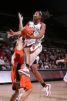 10 January 2008: Candice Wiggins during Stanford's 81-45 win over Oregon State at Maples Pavilion in Stanford, CA.