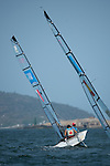 John McRoberts and Jackie Gay, Rio 2016 - Para Sailing // Voile adaptée.<br /> John McRoberts and Jackie Gay compete in the 2-Person Keelboat (SKUD18) // John McRoberts et Jackie Gay participent au quillard pour 2 personnes (SKUD18). 17/09/2016.