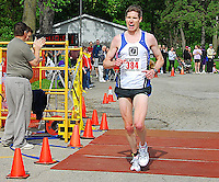David Williams wins the 20 mile run at the 2010 Syttende Mai between Madison and Stoughton, Wisconsin on Saturday, 5/15/10