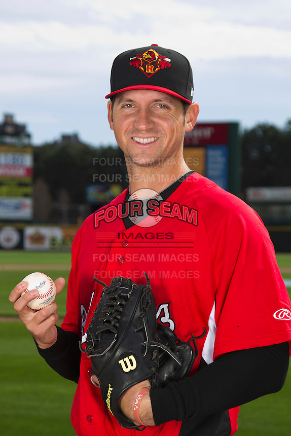 Rochester Red Wings pitcher Anthony Slama #39 poses for a photo during media day at Frontier Field on April 3, 2012 in Rochester, New York.  (Mike Janes/Four Seam Images)