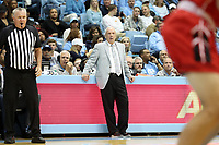 CHAPEL HILL, NC - NOVEMBER 01: Head Coach Roy Williams of the University of North Carolina watches the game during a game between Winston-Salem State University and University of North Carolina at Dean E. Smith Center on November 01, 2019 in Chapel Hill, North Carolina.