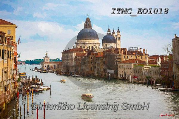 Marcello, LANDSCAPES, LANDSCHAFTEN, PAISAJES, paintings+++++,ITMCEO1018,#l#, EVERYDAY,venice,channels