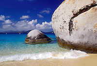 beach, Virgin Gorda, BVI, British Virgin Islands, The Baths, Caribbean, Scenic view of the rocky coastline of Devils Bay Nat'l Park at The Baths on Virgin Gorda on the Caribbean Sea.