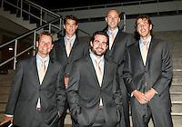 19-9-07, Netherlands, Rotterdam, Daviscup NL-Portugal, Team in official kleding, v.l.n.r.: captain Jan Siemerink, Jesse Huta Galung, Raemon Sluiter, Peter Wessels en Robin Haase.