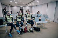 pre-training meeting<br /> <br /> Team Trek-Segafredo women's team<br /> training camp<br /> Mallorca, january 2019<br /> <br /> ©kramon