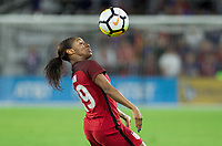 Orlando City, FL - Wednesday March 07, 2018: Crystal Dunn during a 2018 SheBelieves Cup match between the women's national teams of the United States (USA) and England (ENG) at Orlando City Stadium.