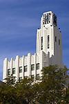 Art Deco clock tower in downtown Santa Monica, CA