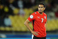 Ahmed Fathi of Egypt. USA defeated Egypt 3-0 during the FIFA Confederations Cup at Royal Bafokeng Stadium in Rustenberg, South Africa on June 21, 2009.