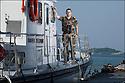 Juin 2010, Commandos Marine.<br /> MAÎTRE STÉPHANE HOURDIE, navigateur certifié chef du quart,<br /> chef des engins à la base des fusiliers marins et commandos (BFMC) de Lorient.