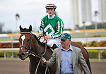 30 January 2009: Capt. Candyman Can, with Julien Leparoux in the saddle, wins the 53rd running of the Grade 2 Hutcheson Stakes for three-year-olds at Gulfstream Park in Hallandale, Florida.