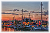 Sunset at the Bronte Harbour marina in Oakville.