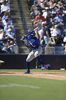 Toronto Blue Jays Jonathan Davis (1) during a Grapefruit League Spring Training game against the New York Yankees on February 25, 2019 at George M. Steinbrenner Field in Tampa, Florida.  (Mike Janes/Four Seam Images)