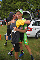 Jesse Featonby after winning Stage Four - Te Piki - The Climb. 2019 Grassroots Trust NZ Cycle Classic UCI 2.2 Tour from Cambridge, New Zealand on Saturday, 26 January 2019. Photo: Dave Lintott / lintottphoto.co.nz