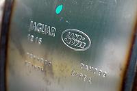 Detail of a Jaguar Landrover Exhaust Part