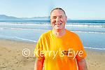 Pat Sheehy enjoying a stroll on Banna beach on Saturday.
