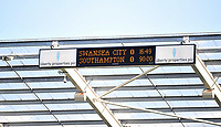 Pictured: Final score 0-0 at the Liberty Stadium.<br /> Saturday 20 April 2013<br /> Re: Barclay's Premier League, Swansea City FC v Southampton at the Liberty Stadium, south Wales.