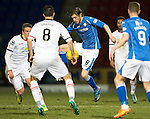 St Johnstone v Inverness Caley Thistle…09.03.16  SPFL McDiarmid Park, Perth<br />Murray Davidson and Ross Draper<br />Picture by Graeme Hart.<br />Copyright Perthshire Picture Agency<br />Tel: 01738 623350  Mobile: 07990 594431