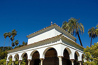 Garden pavilion at the Alcazar of Seville, Seville, Andalusia, Spain.