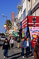 San Francisco, California - Mission Street Pedestrians, Mission District.