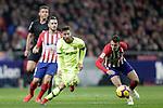 Referee Gil Manzano, Club Atletico de Madrid's Koke Resurreccion (L), Santiago Arias and Futbol Club Barcelona's Leo Messi  during La Liga match. November 24,2018. (ALTERPHOTOS/Alconada)