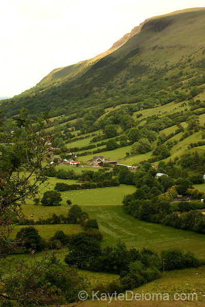 North of Belfast, the nine Glens of Antrim are river valleys created by glaciers.  Glenariff is the largest, most accessible of the glens.  County Antrim, Northern Ireland